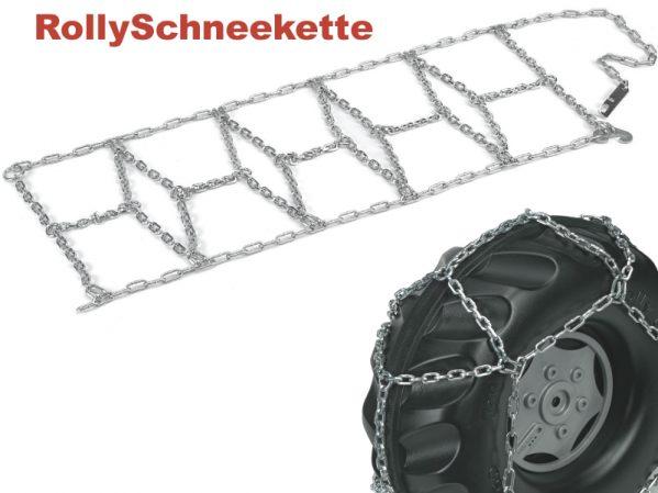 Kjetting vises montert på et plasthjul - alle traktorer som kan velges i pakken har gummihjul!