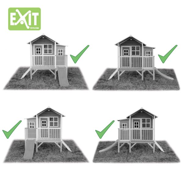 Lekehus - EXIT - Loft 350 grønn