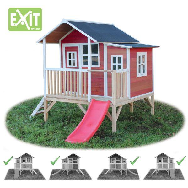 Lekehus - EXIT - Loft 350 rød