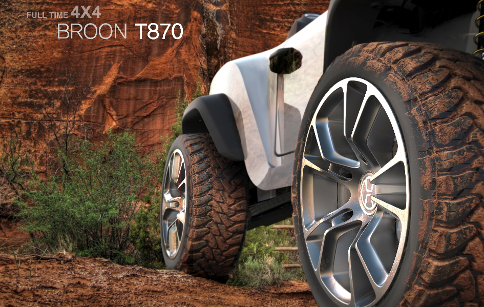 Henes Broon T870 Full-time 4WD system