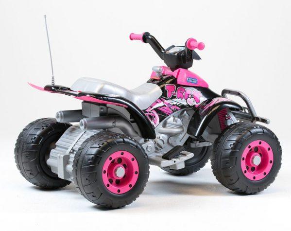 Elektrisk ATV Peg Pérego Corral T-Rex Rosa 12V/330W