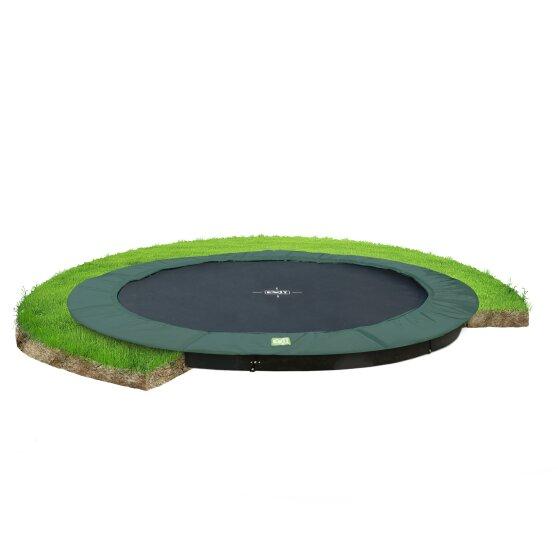 nedgravd trampoline
