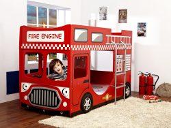 køyeseng brannbil barneseng