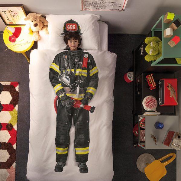 Brannmann sengetøy barn barneseng