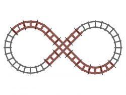Togbane for elektrisk tog