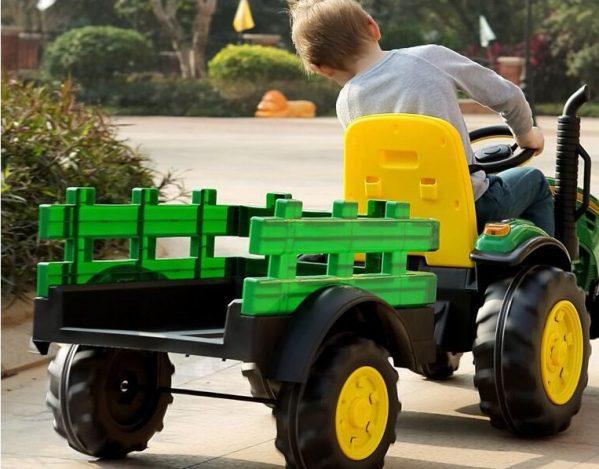 Elektrisk traktor for barn tilhenger